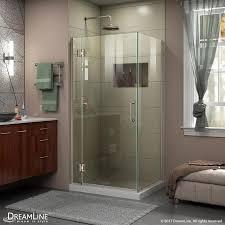 shop dreamline unidoor x 36 in to 36 in frameless brushed nickel