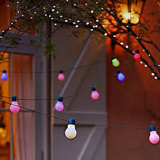 Solar Party Lights Smart Solar 20 Led Party Colour Changing Light String Amazon Co