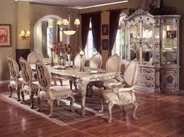 magnificent antique white dining table set antique white round