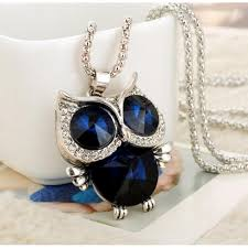 owl necklace pendants images Crystal owl pendant standout for women zinc alloy link jpeg