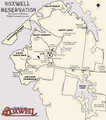 Map Of Middle Tennessee by Virtual Boxwell Boxwell Reservation