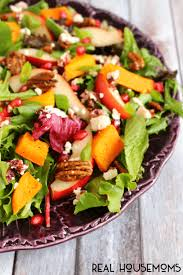 harvest salad with butternut squash real housemoms
