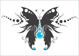 illustration of tribal butterfly tattoo