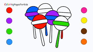 candy coloring pages how to draw lollipop candies coloring pages for kids children