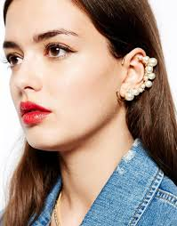 pierced ears without earrings 2015 real women earrings e214 new fashion exaggerated pearl