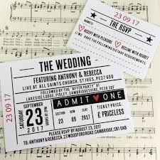 concert ticket inspired wedding invitations u2013 love me do designs