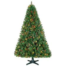 smith 7 5ft sherwood pine tree with multi colored