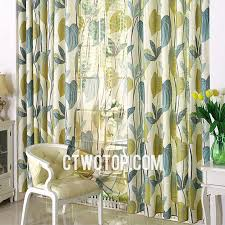Green And Blue Curtains Beige Teal And Olive Green Leaf Beautiful Country Linen Curtains