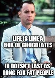 Life Is Like A Box Of Chocolates Meme - forest gump life is like a box of chocolates it doesn t last as