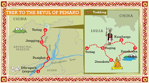 Himilayas Map Beyul Pemako Trek Adventure Travel In Arunachal Pradesh