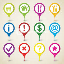 location icons vector design element set royalty free stock