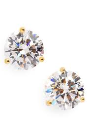 cubic zirconia earrings nordstrom precious metal plated 3ct tw cubic zirconia earrings