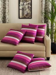 Swayam White N Pink Floral Swayam Cushion Covers Buy Swayam Cushion Covers Online In India