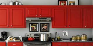 Beautifully Colorful Painted Kitchen Cabinets - Orange kitchen cabinets