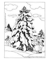 classic christmas coloring pages hunting christmas tree