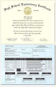 fake ged and score sheet
