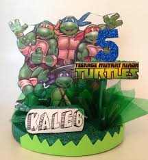 tmnt cake topper mutant turtles 3dimensional table top