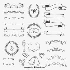 decoration for wedding vector free