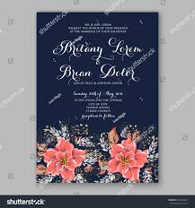 Bridal Shower Invitation Cards Wedding Invitations Anemone Flowers Anemone Bridal Stock Vector