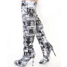 womens boots unique side zipper leopard knee high boots knee high boot