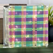 glass block crafts plaid lamp mod podge rocks