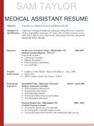 ex of nurse resume skills summary list medical assistant resume entry level