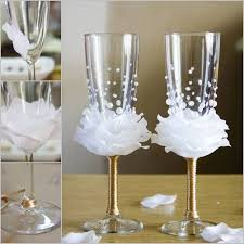 wine glass with initials wonderful diy wine glasses decoration with flowers and
