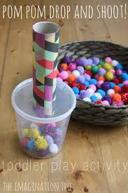 pom pom drop and shoot toddler play the imagination tree