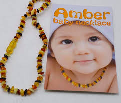 baby bead necklace images Baltic amber baby necklace and bracelet set 1 multi amber png