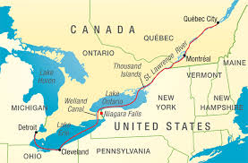 map of us and canada upstate ny 1 864 islands straddle us canadian border