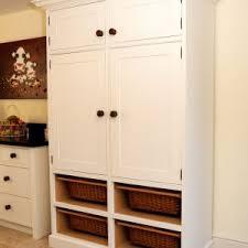 Wicker Kitchen Furniture Furniture Free Standing Kitchen Cabinets In White With Wicker