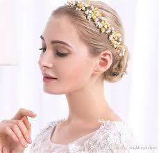 gold leaf headband gold leaf headband hair vine band vintage wedding bridal