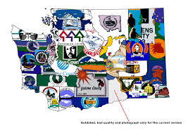 Map Washington State Washington State County Flags Map By Coliop Kolchovo On Deviantart