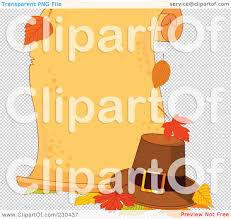 royalty free rf clipart illustration of a blank thanksgiving