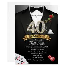 40th birthday invitations u0026 announcements zazzle