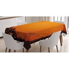 Walmart Massage Table Halloween Decorations Tablecloth Grunge Spider Web Pumpkins