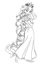 disney princess tangled coloring