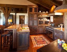 terra firma custom homes rustic kitchen lake and cabin