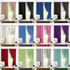 Short Drop Ready Made Curtains Bedroom Curtains Ebay