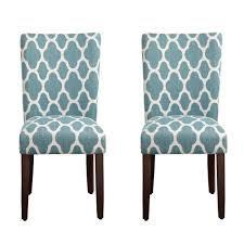 Blue And White Dining Chairs by Amazon Com Homepop Geo Brights Parson Chairs Set Of 2 Chairs