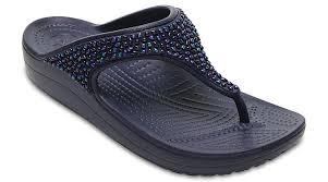 flip flop crocs womens sloane embellished flip flop sandal ebay