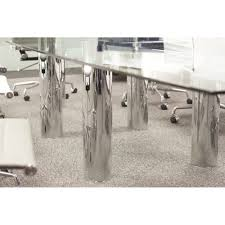 Black Glass Boardroom Table Multi Piece Chrome Glass Boardroom Table