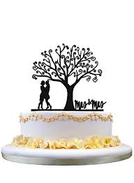 mrs and mrs cake topper mrs mrs wedding cake topper home kitchen