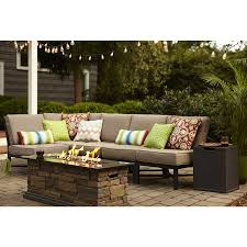 Outdoor Patio Furniture Sectional Shop Garden Treasures Palm City 5 Black Steel Patio