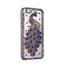 online get cheap peacock rhinestone iphone case aliexpress com