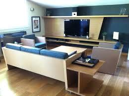 meuble bout de canapé coin salon meuble tv avec bout de canapé sur mesure aménagement