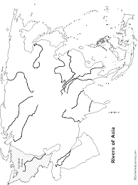 physical map of asia blank outline map rivers of asia enchantedlearning