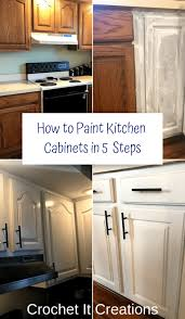 how to remove polyurethane from kitchen cabinets how to paint kitchen cabinets in 5 steps crochet it creations