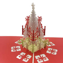 christmas tree with presents white 3d pop up card u2013 color pop cards