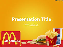 Fast Food Ppt Slides Free Mcdonalds With Logo Ppt Template Fast Food Ppt